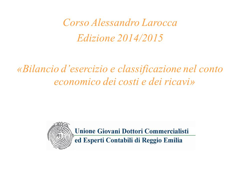 Corso Alessandro Larocca
