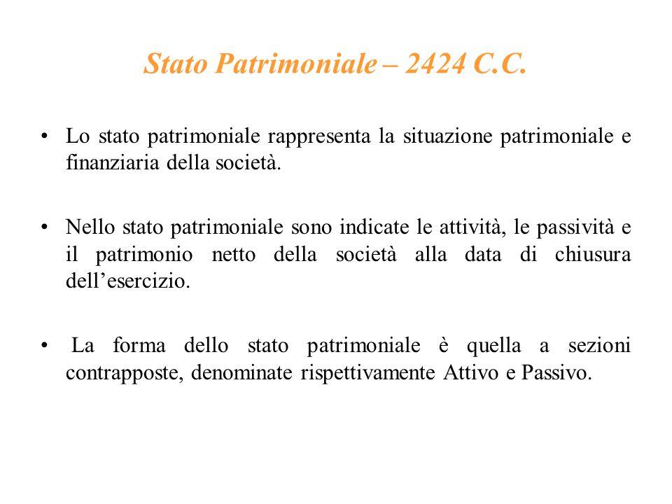 Stato Patrimoniale – 2424 C.C.