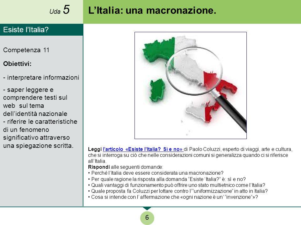 L'Italia: una macronazione.
