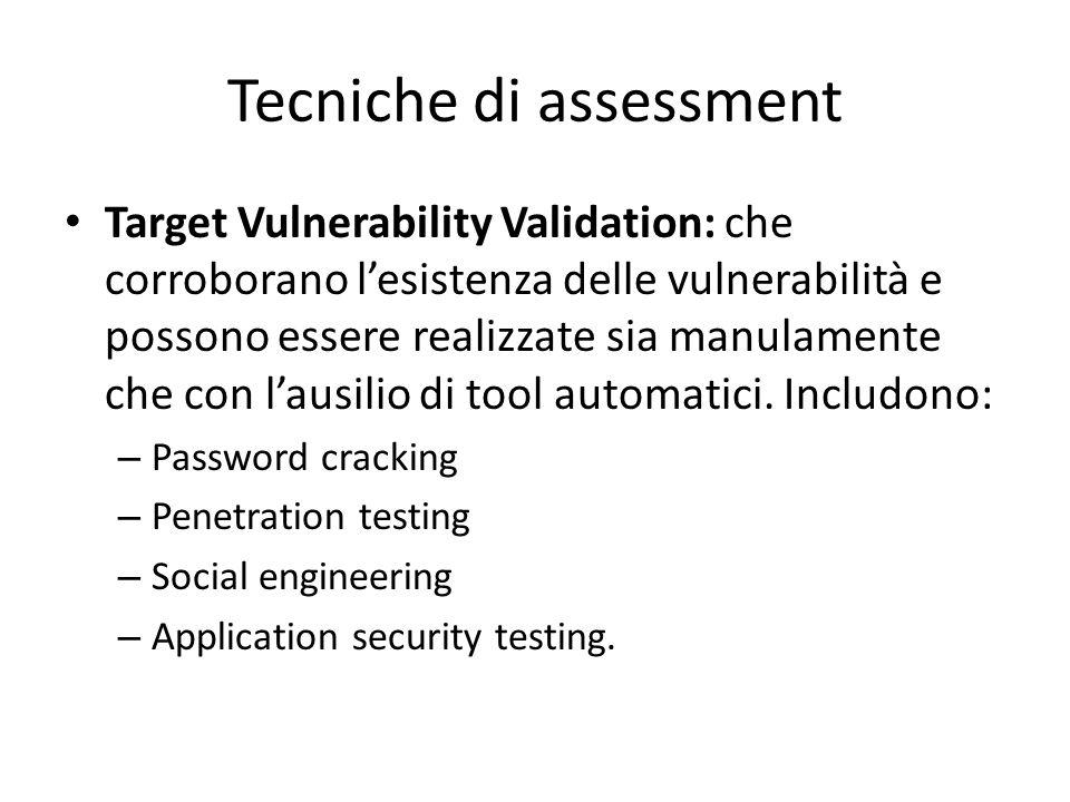 Tecniche di assessment