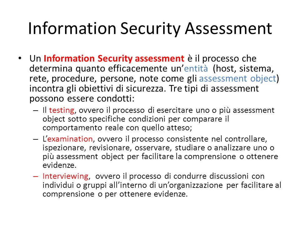 Information Security Assessment
