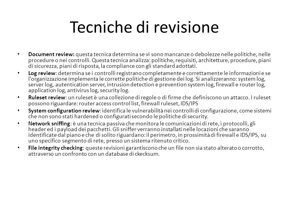 Tecniche di revisione
