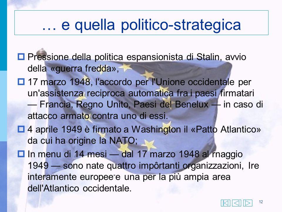 … e quella politico-strategica