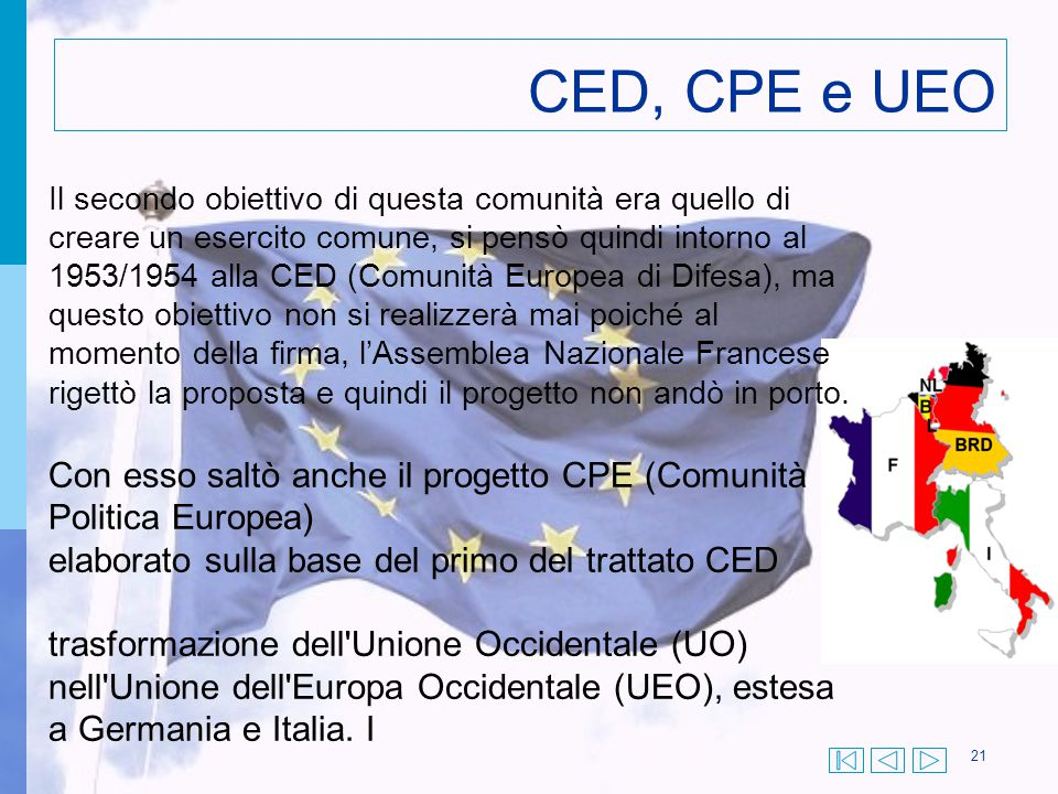 CED, CPE e UEO