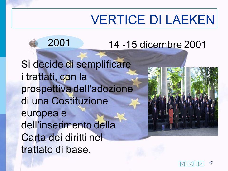 VERTICE DI LAEKEN 2001 14 -15 dicembre 2001
