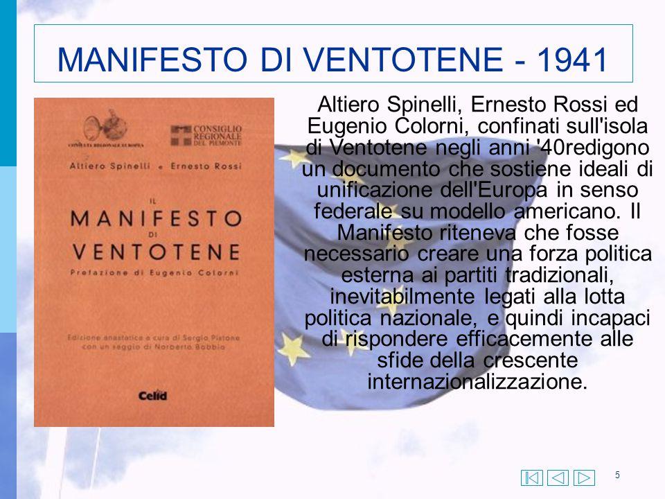 MANIFESTO DI VENTOTENE - 1941