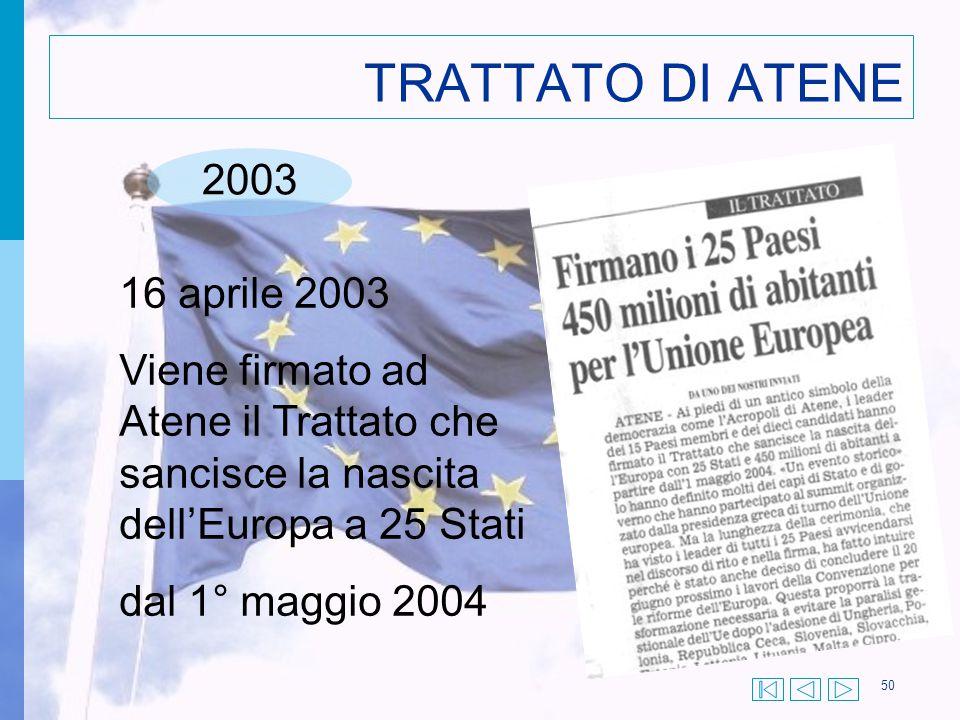 TRATTATO DI ATENE 2003 16 aprile 2003