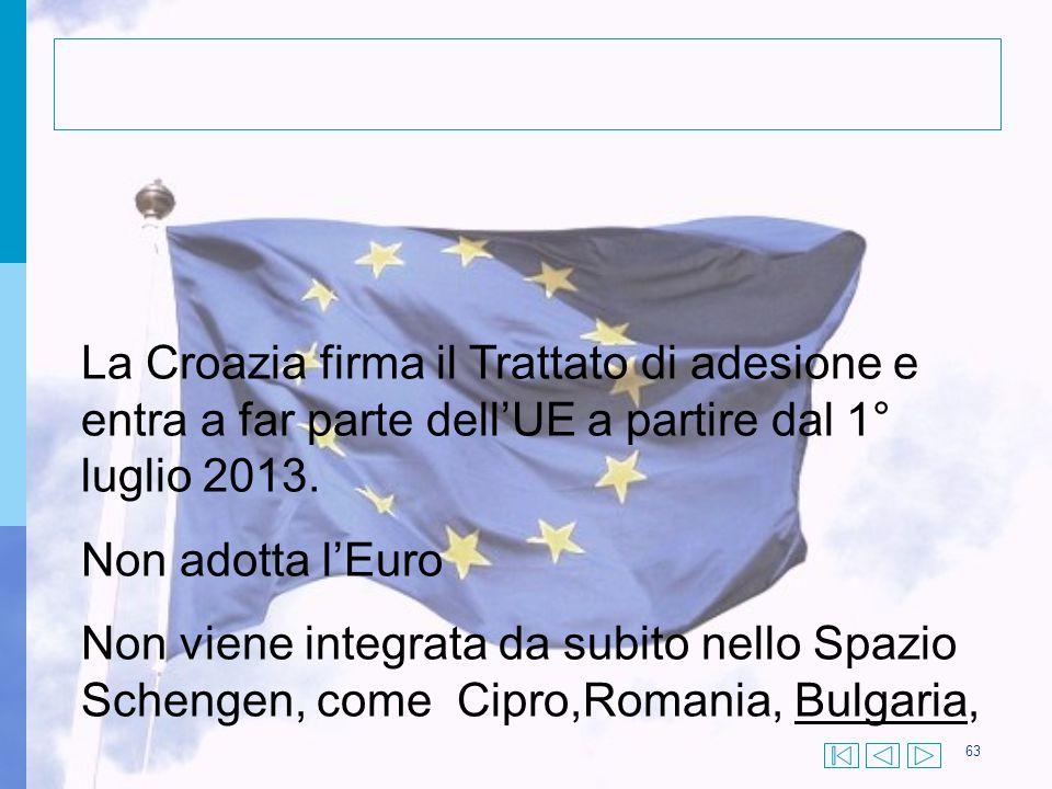 La Croazia firma il Trattato di adesione e entra a far parte dell'UE a partire dal 1° luglio 2013.