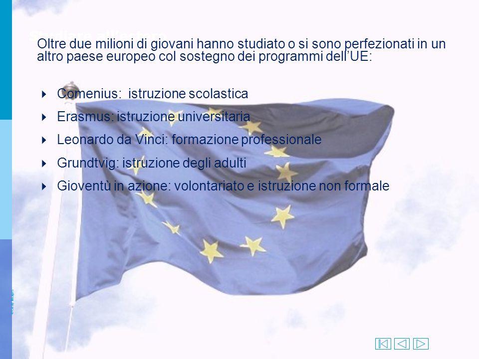 4 Comenius: istruzione scolastica 4 Erasmus: istruzione universitaria