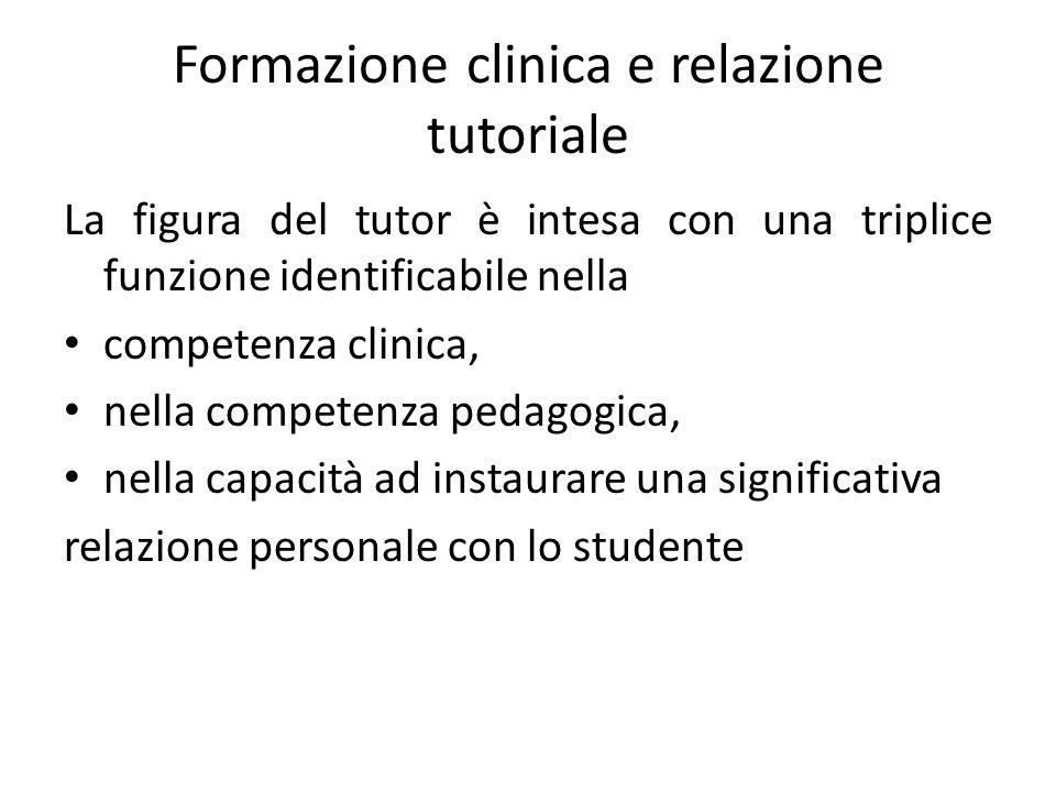 Formazione clinica e relazione tutoriale
