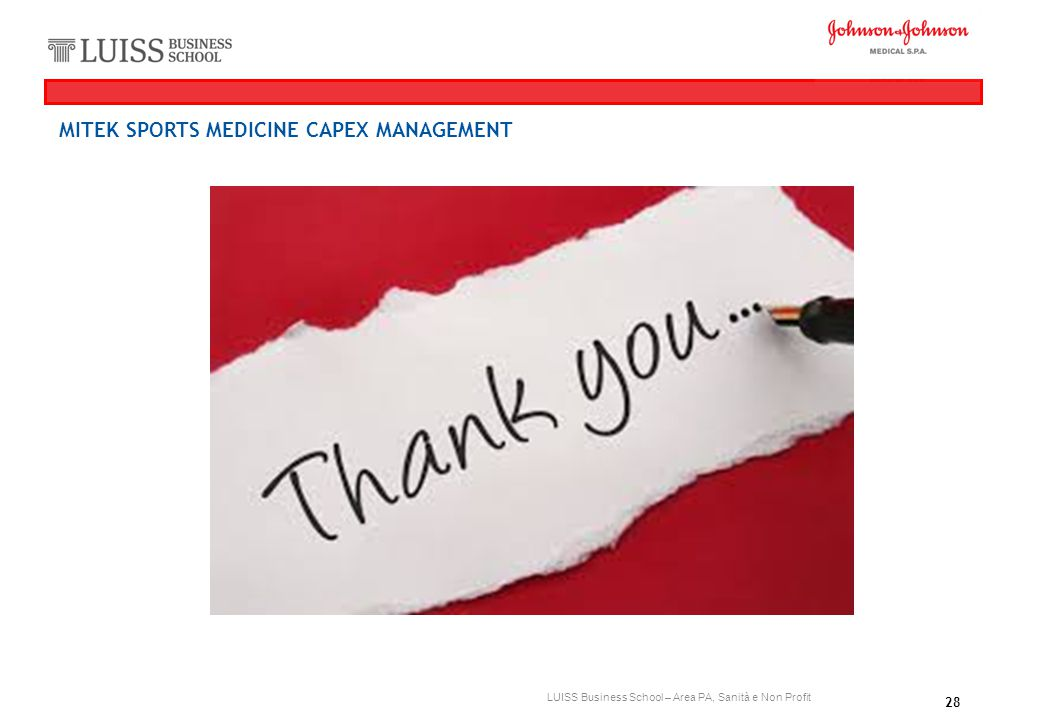 MITEK SPORTS MEDICINE CAPEX MANAGEMENT