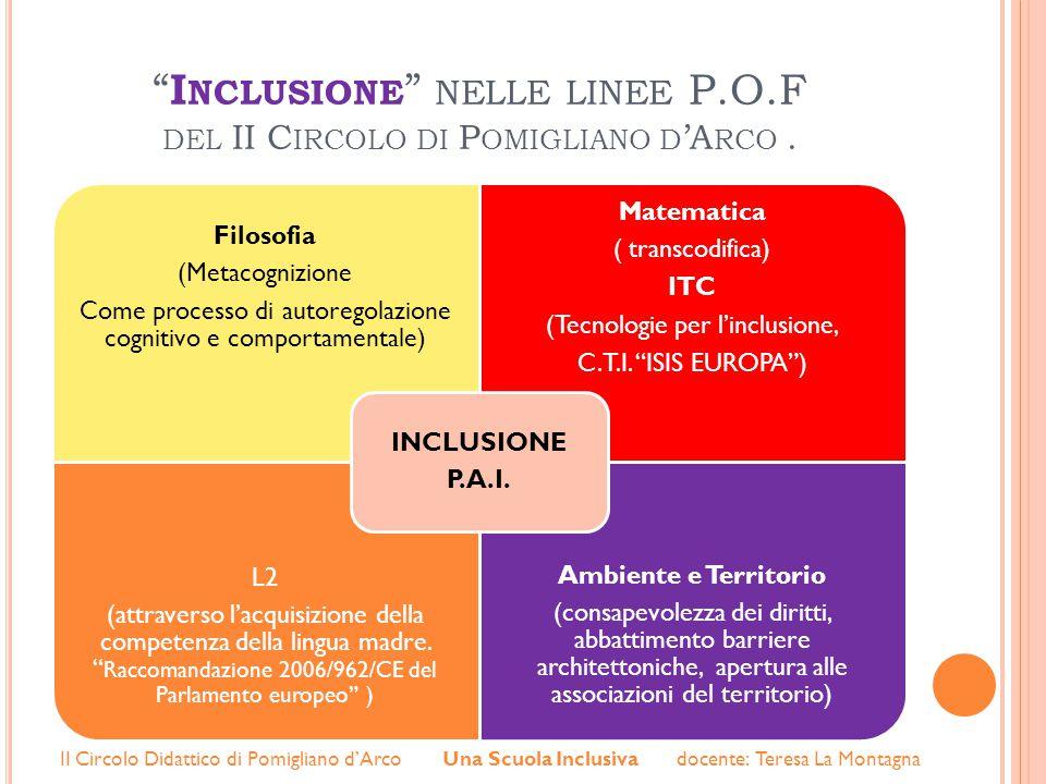 Inclusione nelle linee P.O.F del II Circolo di Pomigliano d'Arco .