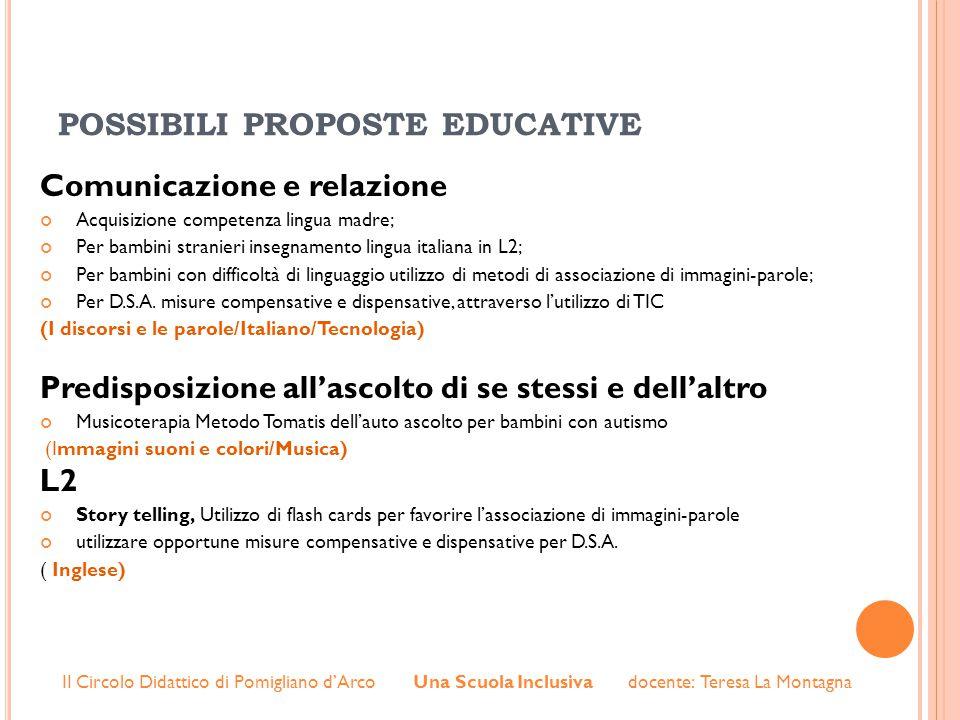 possibili proposte educative