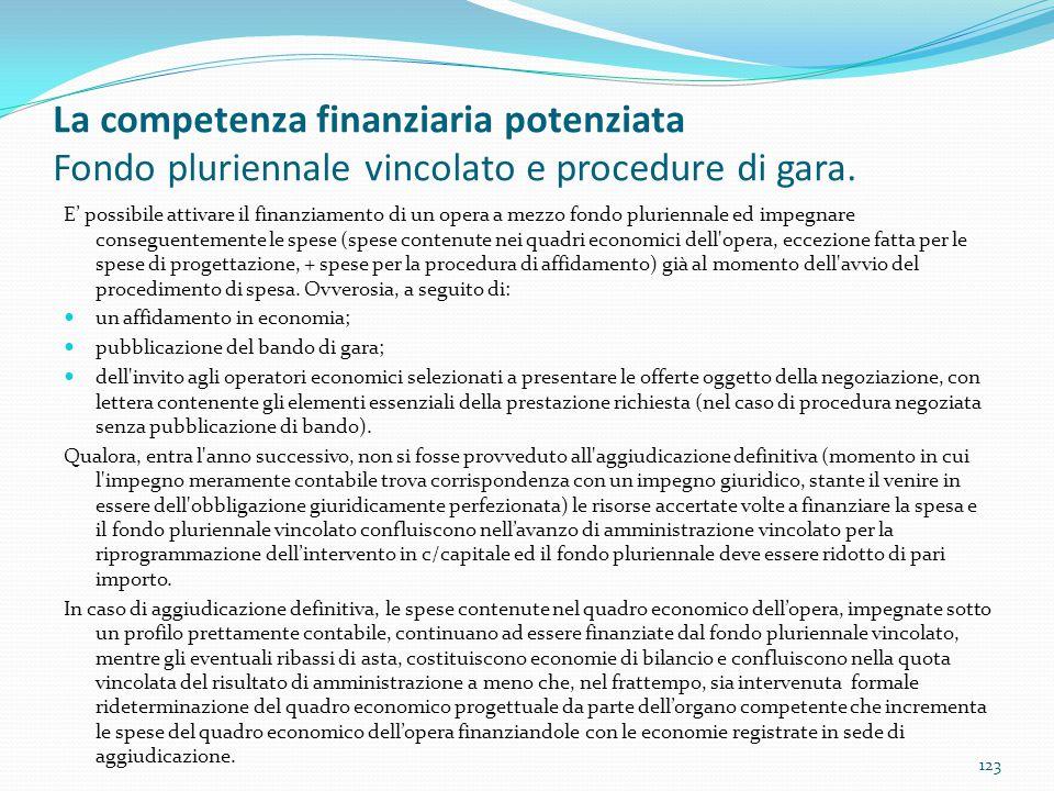 La competenza finanziaria potenziata Fondo pluriennale vincolato e procedure di gara.