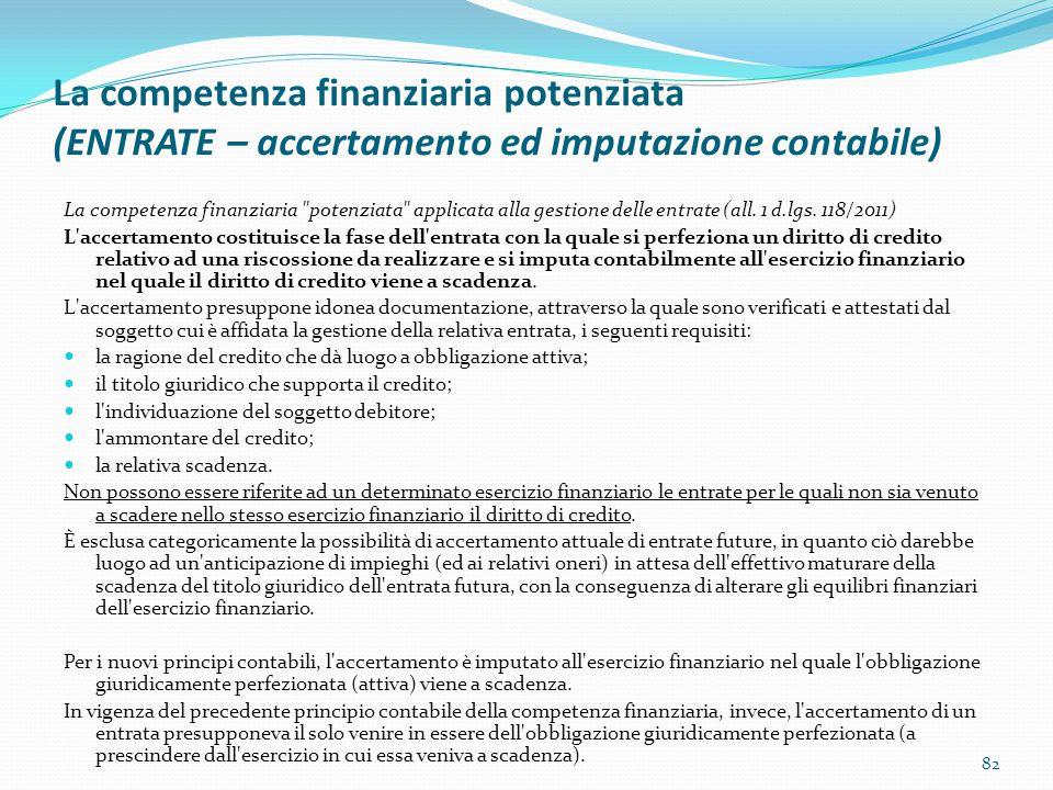 La competenza finanziaria potenziata (ENTRATE – accertamento ed imputazione contabile)