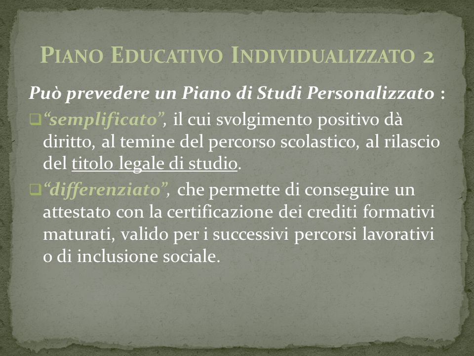 Piano Educativo Individualizzato 2