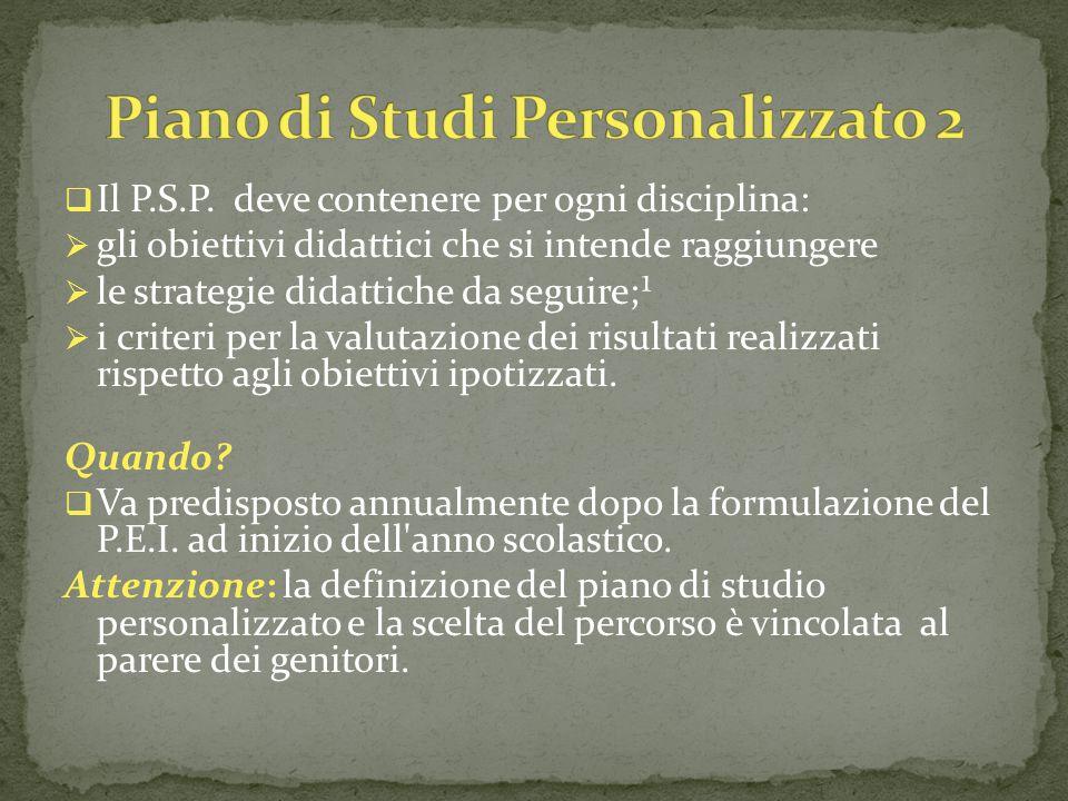 Piano di Studi Personalizzato 2