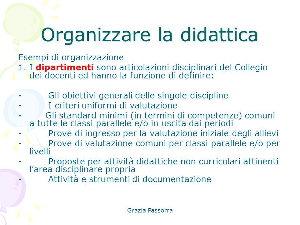 Organizzare la didattica