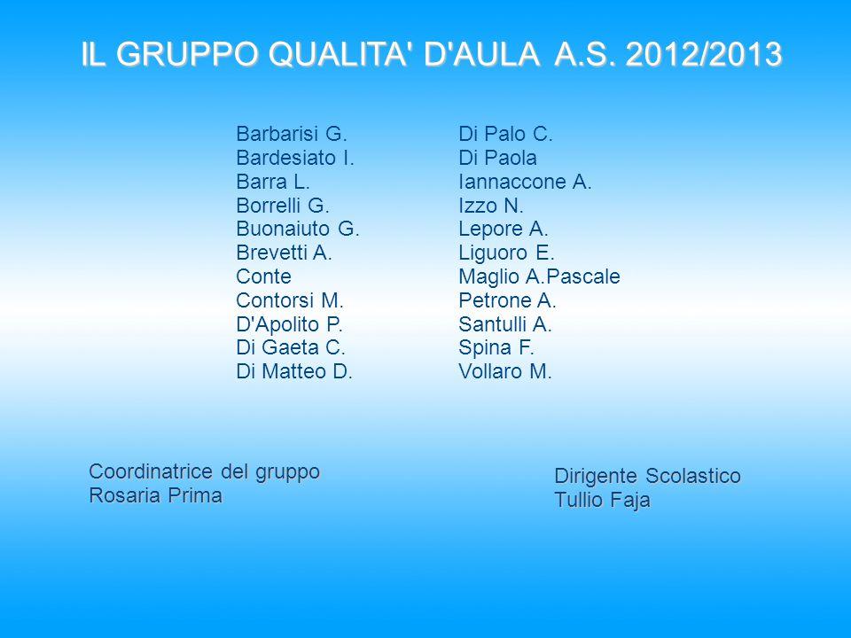 IL GRUPPO QUALITA D AULA A.S. 2012/2013