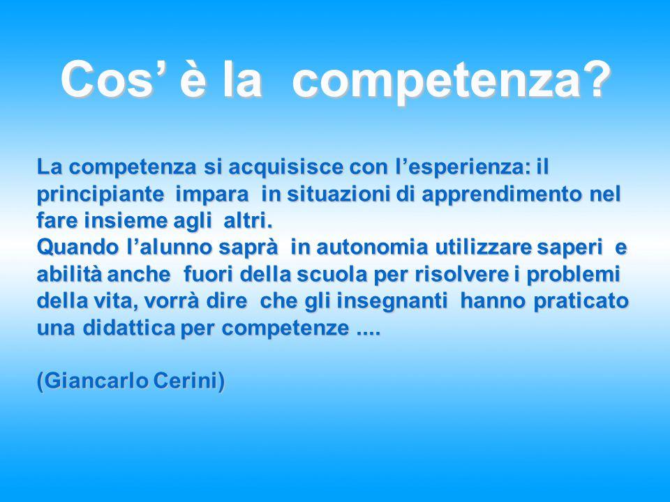 4 Cos' è la competenza