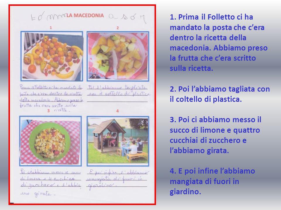 1. Prima il Folletto ci ha mandato la posta che c'era dentro la ricetta della macedonia.