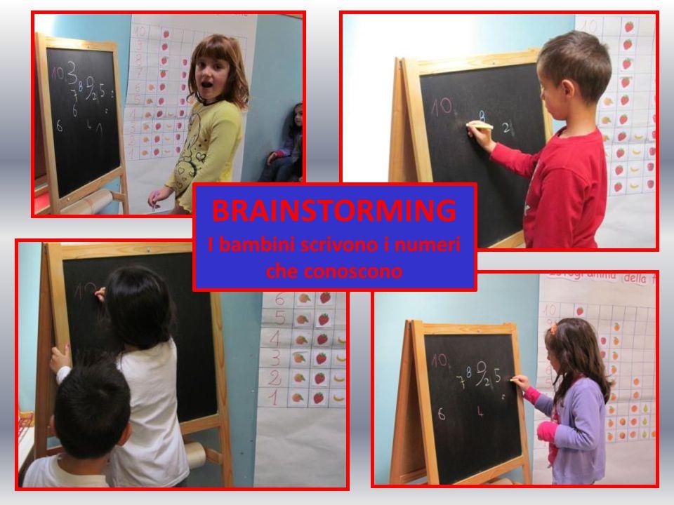 I bambini scrivono i numeri che conoscono