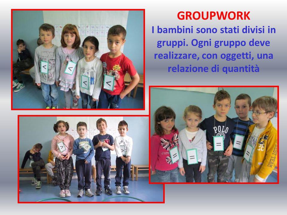 GROUPWORK I bambini sono stati divisi in gruppi