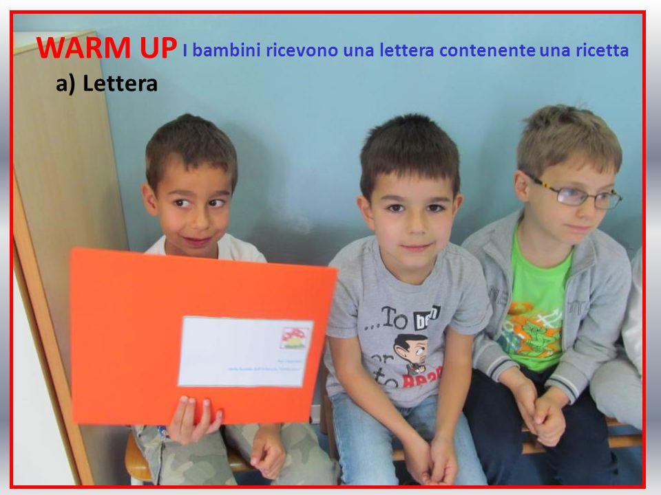 I bambini ricevono una lettera contenente una ricetta