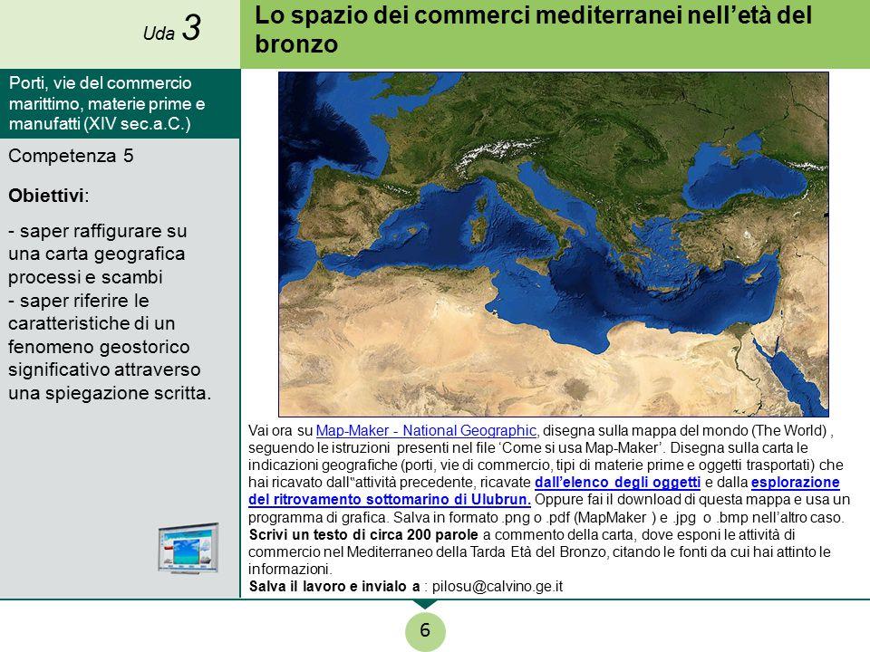Lo spazio dei commerci mediterranei nell'età del bronzo