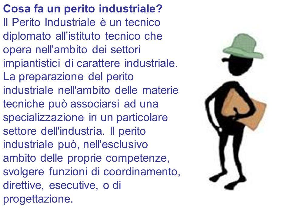Cosa fa un perito industriale