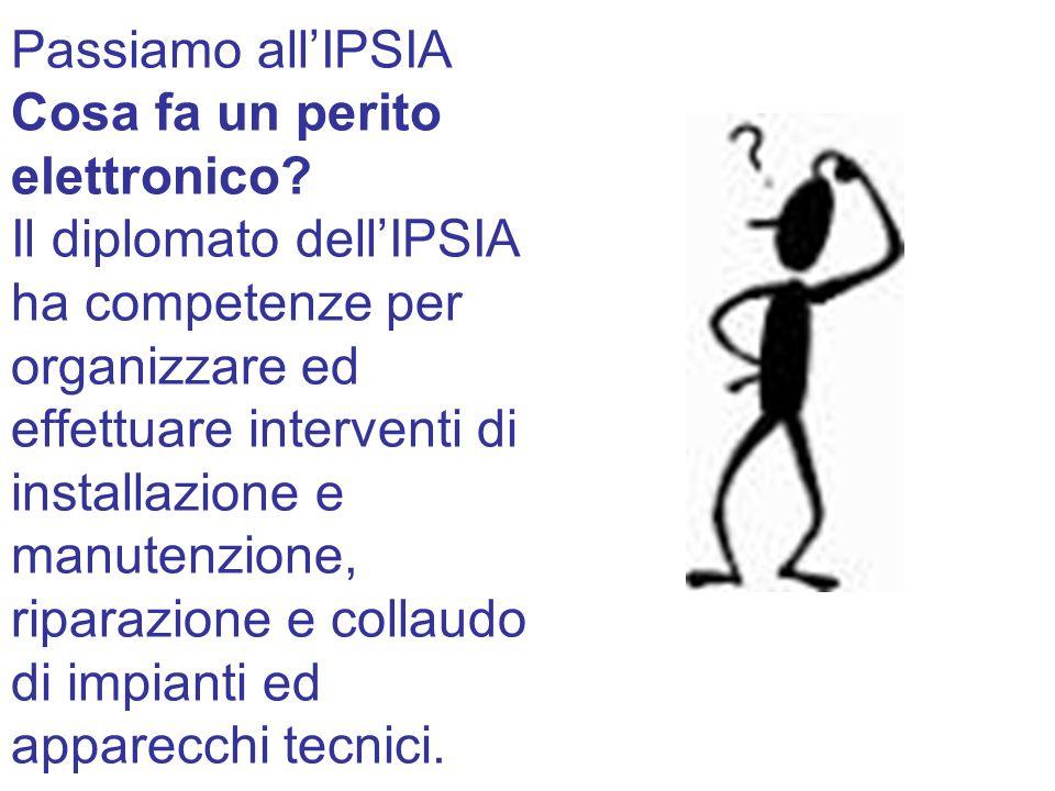 Passiamo all'IPSIA Cosa fa un perito elettronico