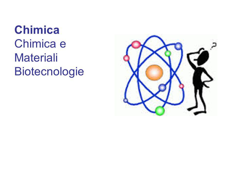 Chimica Chimica e Materiali Biotecnologie Chimica Chimica e Materiali