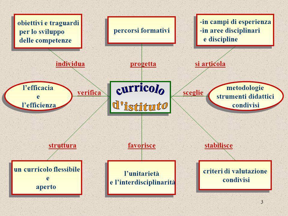 un curricolo flessibile e l'interdisciplinarità criteri di valutazione