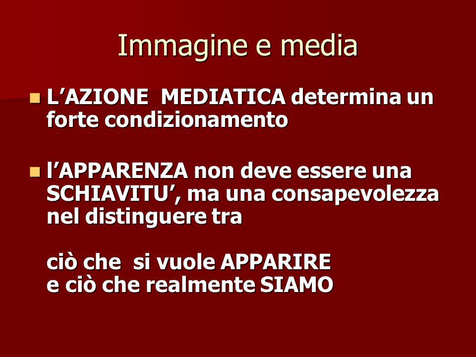 Immagine e media L'AZIONE MEDIATICA determina un forte condizionamento