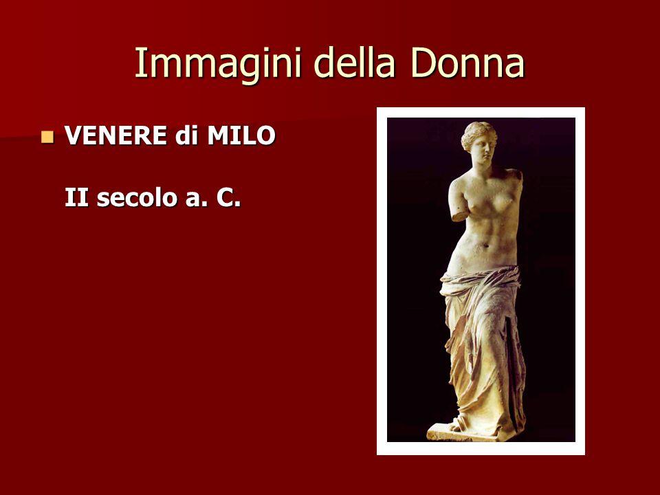 Immagini della Donna VENERE di MILO II secolo a. C.