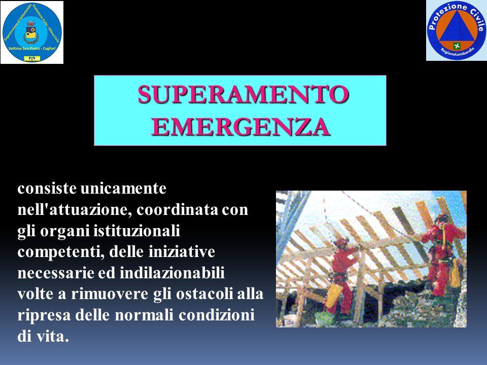 SUPERAMENTO EMERGENZA