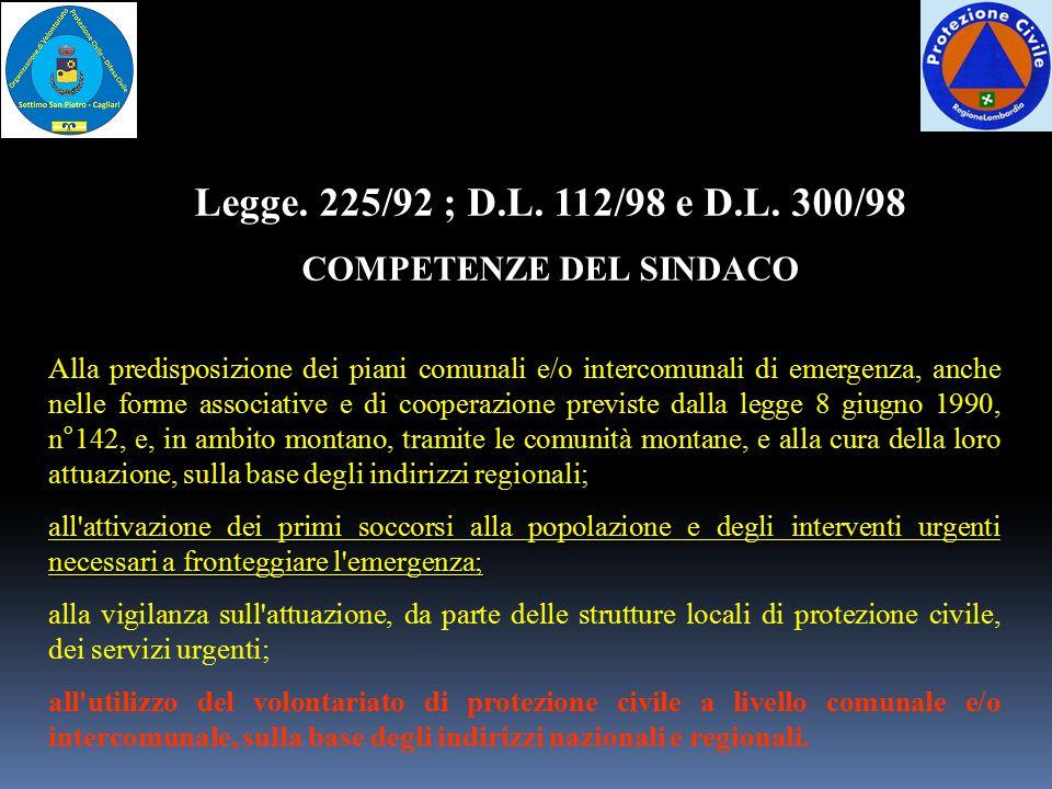 COMPETENZE DEL SINDACO