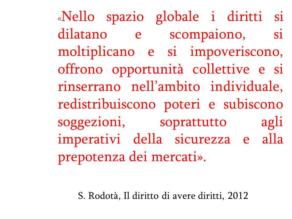 S. Rodotà, Il diritto di avere diritti, 2012