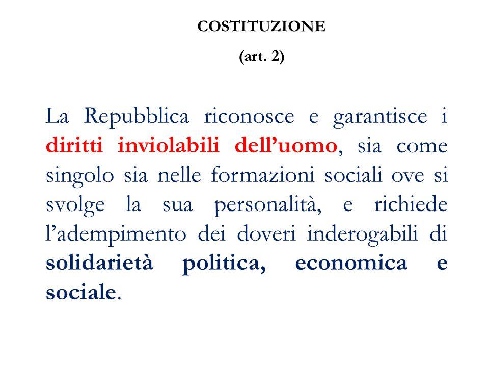 COSTITUZIONE (art. 2)
