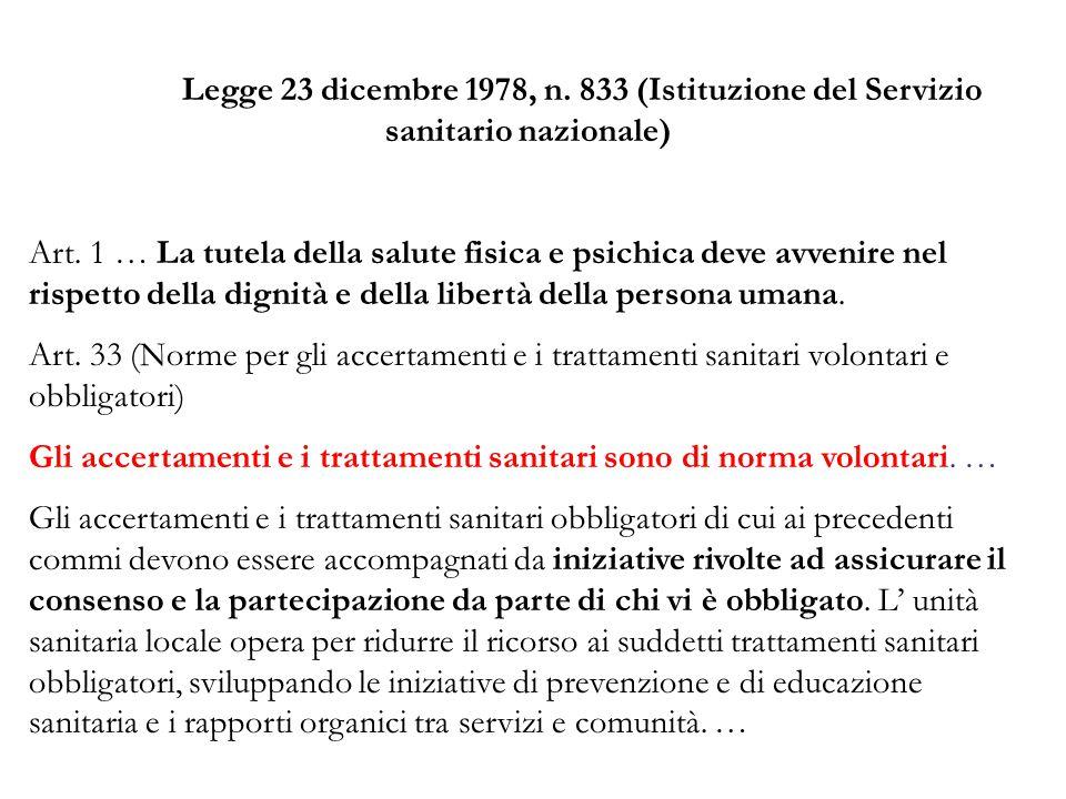 Legge 23 dicembre 1978, n. 833 (Istituzione del Servizio sanitario nazionale)