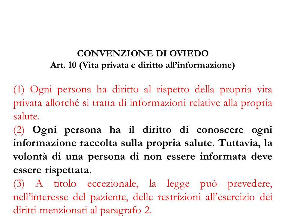 Art. 10 (Vita privata e diritto all'informazione)
