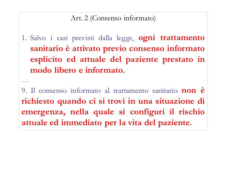 Art. 2 (Consenso informato)