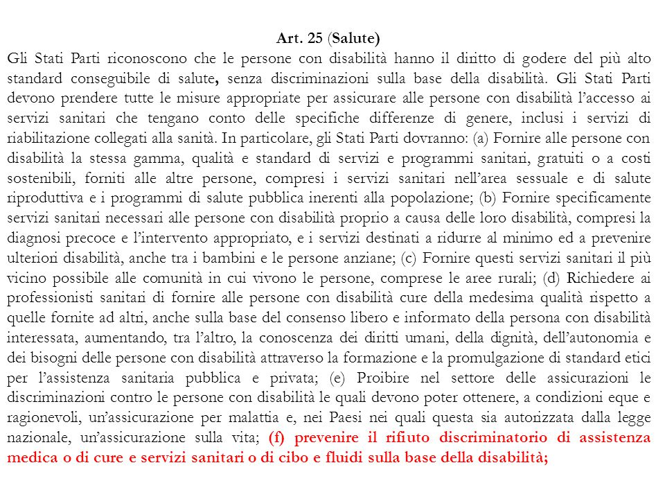 Art. 25 (Salute)