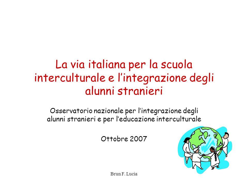La via italiana per la scuola interculturale e l'integrazione degli alunni stranieri