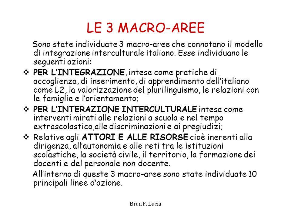 LE 3 MACRO-AREE