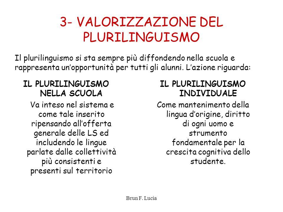3- VALORIZZAZIONE DEL PLURILINGUISMO