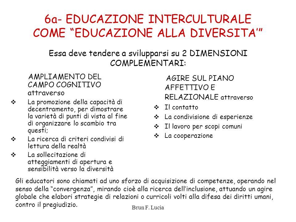 6a- EDUCAZIONE INTERCULTURALE COME EDUCAZIONE ALLA DIVERSITA'