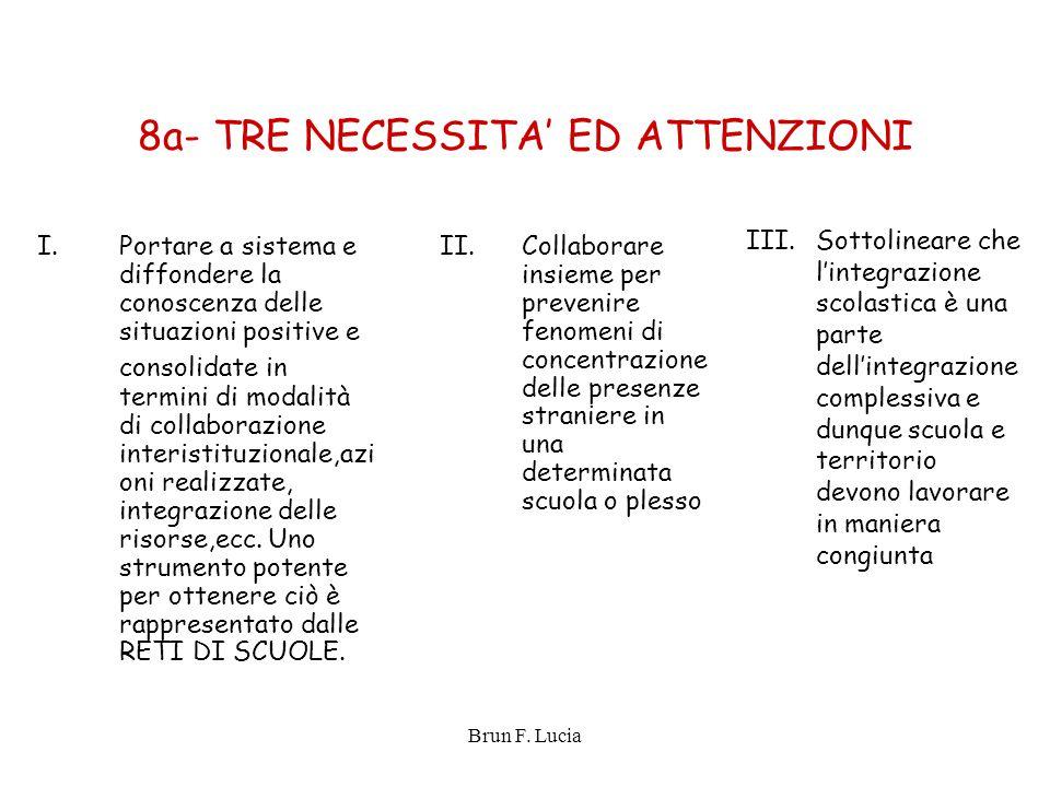 8a- TRE NECESSITA' ED ATTENZIONI
