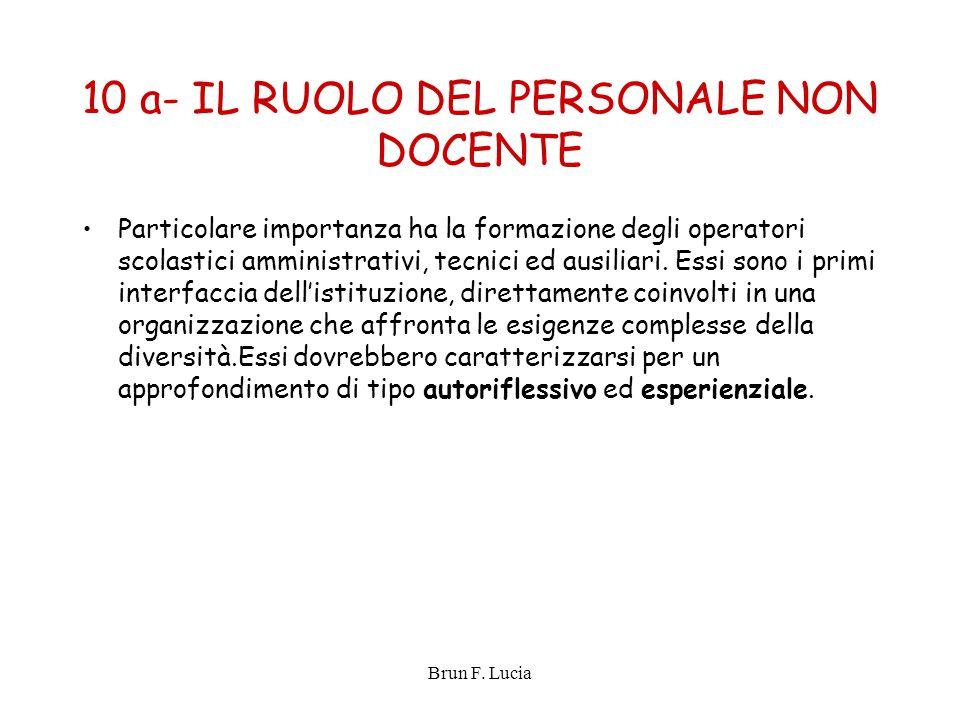 10 a- IL RUOLO DEL PERSONALE NON DOCENTE
