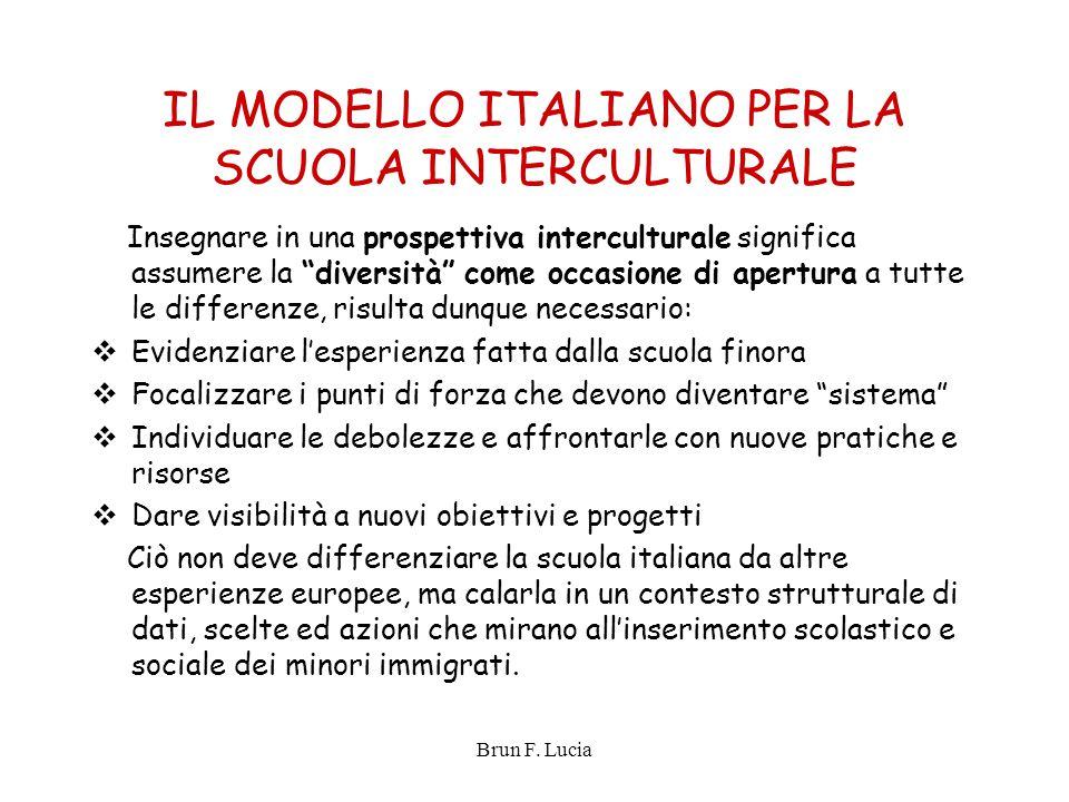 IL MODELLO ITALIANO PER LA SCUOLA INTERCULTURALE